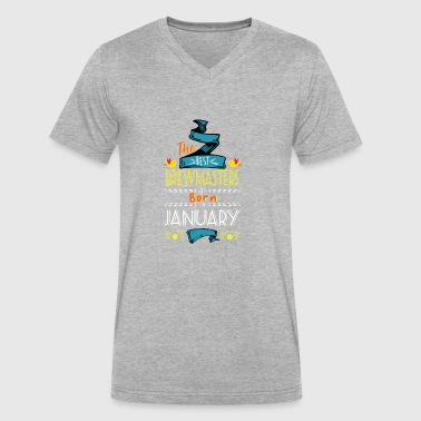 Best Brewmasters are Born in January Gift Idea - Men's V-Neck T-Shirt by Canvas