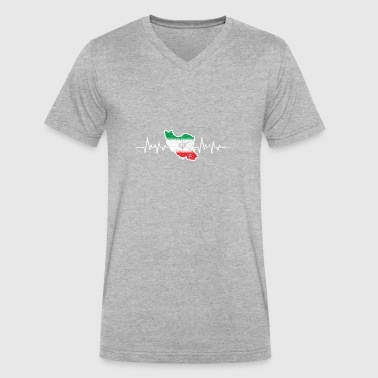 Iran flag - Men's V-Neck T-Shirt by Canvas