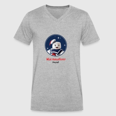 marshmallow stay puft - Men's V-Neck T-Shirt by Canvas