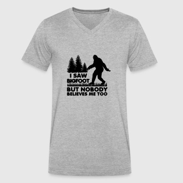 I Saw Bigfoot But Nobody Believes Me Too Believers - Men's V-Neck T-Shirt by Canvas