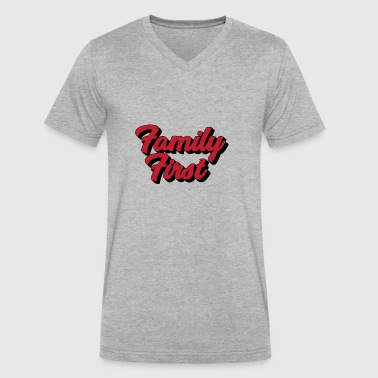 Family First | Strong Family, Strong Nation - Men's V-Neck T-Shirt by Canvas