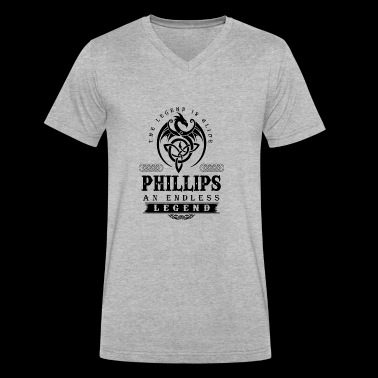 PHILLIPS - Men's V-Neck T-Shirt by Canvas