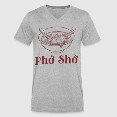 pho pho funny - Men's V-Neck T-Shirt by Canvas