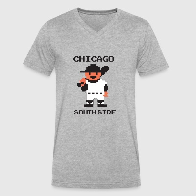 Retro RBI Baseball Look: Chicago Southside - Men's V-Neck T-Shirt by Canvas