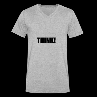 THINK - Men's V-Neck T-Shirt by Canvas