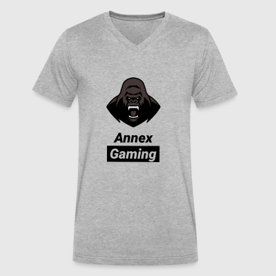 Annex Gaming logo and text - Men's V-Neck T-Shirt by Canvas