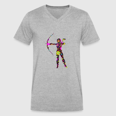 archery arrow bow crossbow target sports43 - Men's V-Neck T-Shirt by Canvas