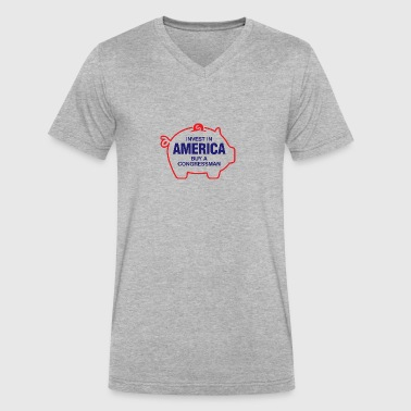 Invest In America. Buy A Congressman! - Men's V-Neck T-Shirt by Canvas