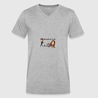 Sarah and Fam - Men's V-Neck T-Shirt by Canvas