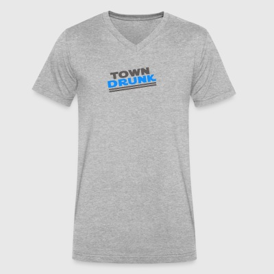 Town Drunk - Men's V-Neck T-Shirt by Canvas