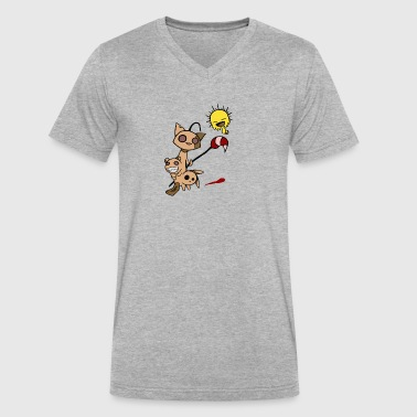 Accidental Monster - Men's V-Neck T-Shirt by Canvas