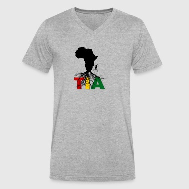 This is Africa - Men's V-Neck T-Shirt by Canvas