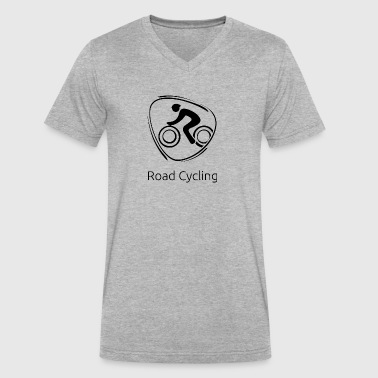 Road_cycling_black - Men's V-Neck T-Shirt by Canvas