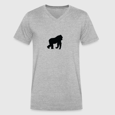 Gorilla - Men's V-Neck T-Shirt by Canvas