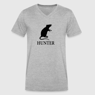 Rat Hunter - Men's V-Neck T-Shirt by Canvas