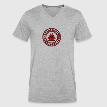 American Viking Axe Symbol - Men's V-Neck T-Shirt by Canvas