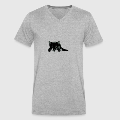 SWEET CAT - Men's V-Neck T-Shirt by Canvas