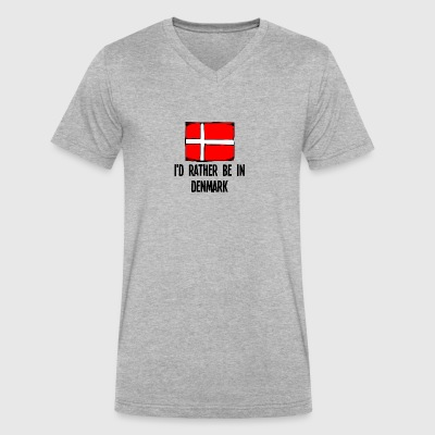 I'd Rather Be In Denmark - Men's V-Neck T-Shirt by Canvas
