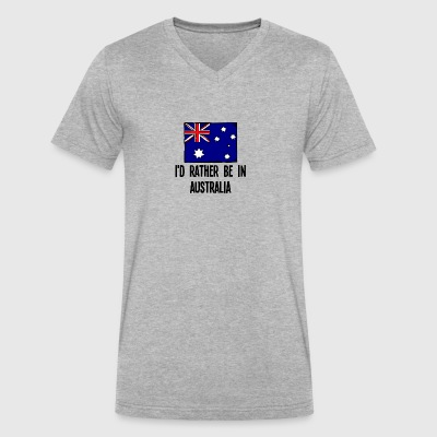 I'd Rather Be In Australia - Men's V-Neck T-Shirt by Canvas