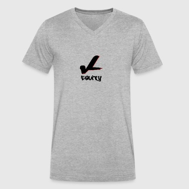 equity vL - Men's V-Neck T-Shirt by Canvas