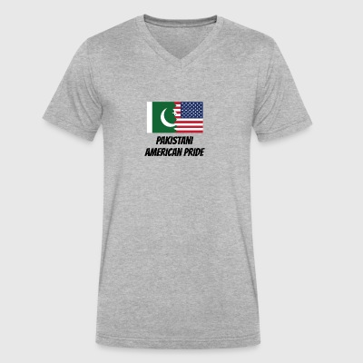 Pakistani American Pride - Men's V-Neck T-Shirt by Canvas