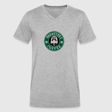 Brewster's Coffee - Men's V-Neck T-Shirt by Canvas