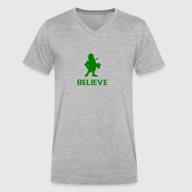 Believe Leprechaun St. Patrick's Day - Men's V-Neck T-Shirt by Canvas