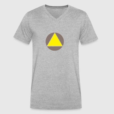 Triengle Yellow - Men's V-Neck T-Shirt by Canvas