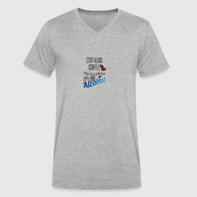Alcohol on the duty - Men's V-Neck T-Shirt by Canvas