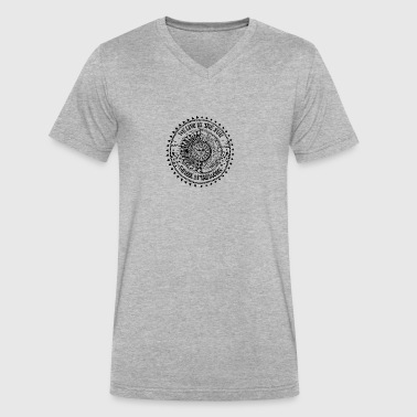 Namaste. We Live In The Sun. We Feel By The Moon - Men's V-Neck T-Shirt by Canvas