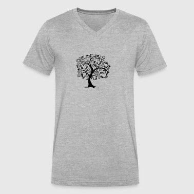 tree - Men's V-Neck T-Shirt by Canvas