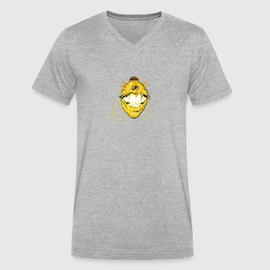 ROASTED AND BAKED LEMON - Men's V-Neck T-Shirt by Canvas