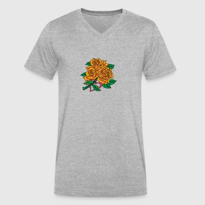 big_yellow_roses - Men's V-Neck T-Shirt by Canvas