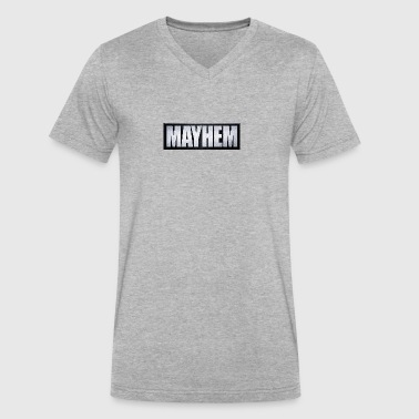 Mayhem Black & Silver - Men's V-Neck T-Shirt by Canvas