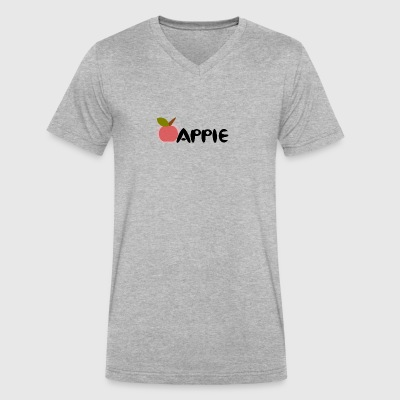 apple - Men's V-Neck T-Shirt by Canvas