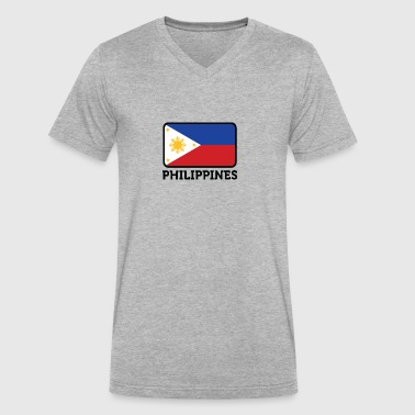 National Flag Of The Philippines - Men's V-Neck T-Shirt by Canvas