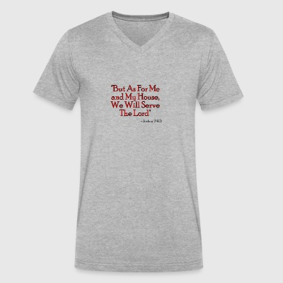 Joshua 24:15 - Men's V-Neck T-Shirt by Canvas