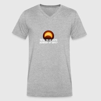 Total Solar Eclipse 2017 - Men's V-Neck T-Shirt by Canvas