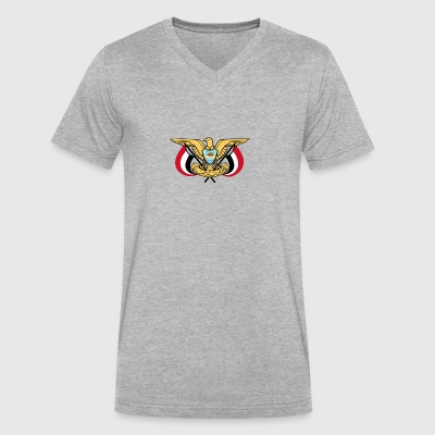 Emblem of Yemen svg - Men's V-Neck T-Shirt by Canvas