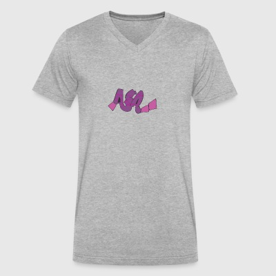 aia_graffiti - Men's V-Neck T-Shirt by Canvas