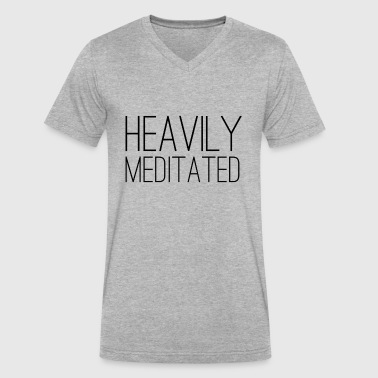 Heavily Meditated - Men's V-Neck T-Shirt by Canvas