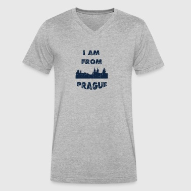 Prague I am from - Men's V-Neck T-Shirt by Canvas