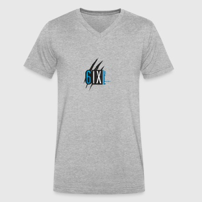 6ix rip blue logo - Men's V-Neck T-Shirt by Canvas
