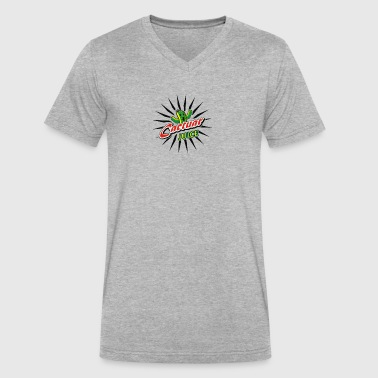 Juice Cactuar Cyber System - Men's V-Neck T-Shirt by Canvas