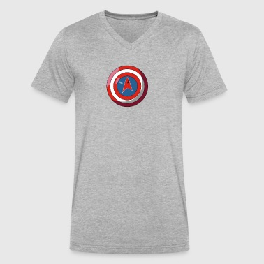 Captain America Federation 2 Cyber System - Men's V-Neck T-Shirt by Canvas