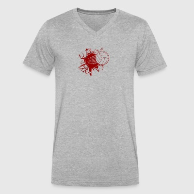 Volleyball Explosion - Men's V-Neck T-Shirt by Canvas