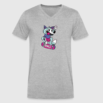 Fox Skater - Men's V-Neck T-Shirt by Canvas