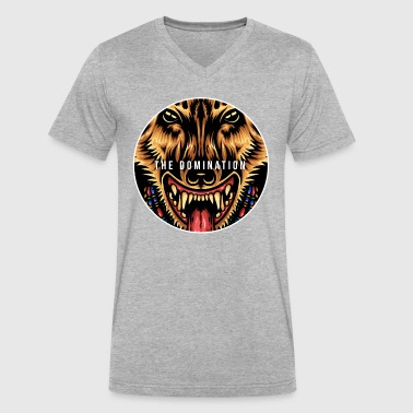 The Domination - Men's V-Neck T-Shirt by Canvas