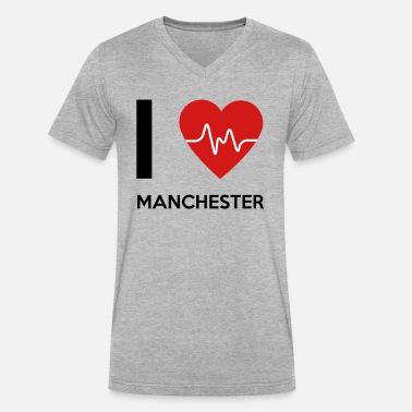 I Love Heart Manchester V-Neck T-Shirt
