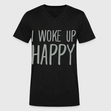 I Woke Up Happy - Men's V-Neck T-Shirt by Canvas